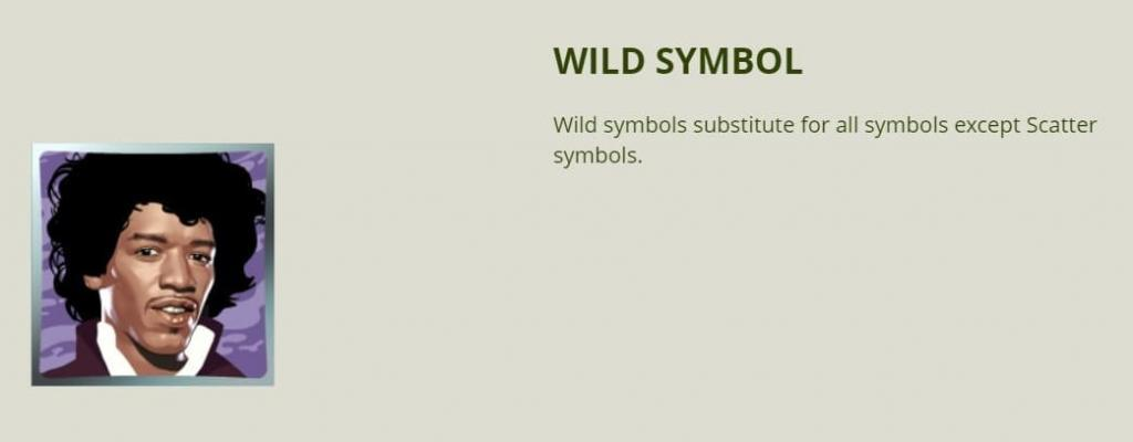 Jimi Hendrix slot - Wild Symbol
