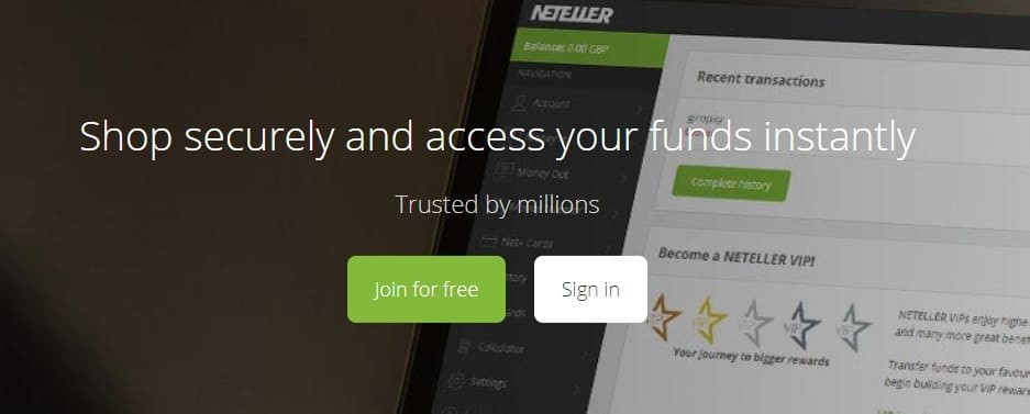 Neteller account registration