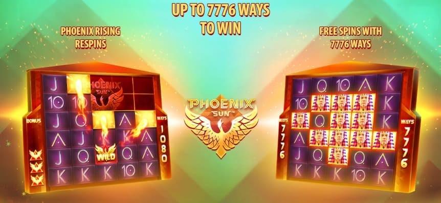 Phoenix Sun slot features