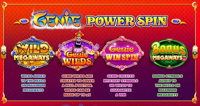Genie Jackpots Megaways Review: Game features