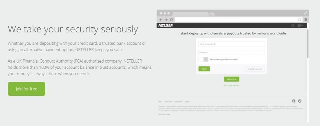 Neteller safe transactions
