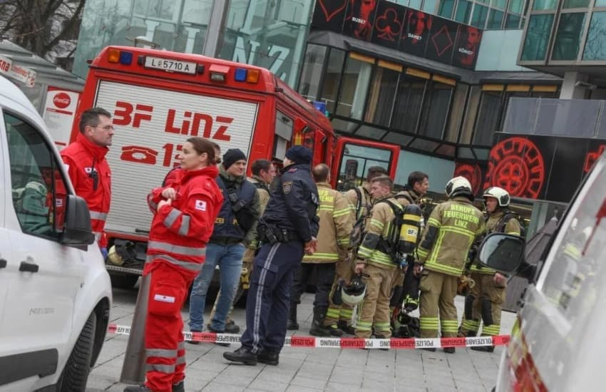 Fire at Casino Linz: 120 people were temporarily evacuated