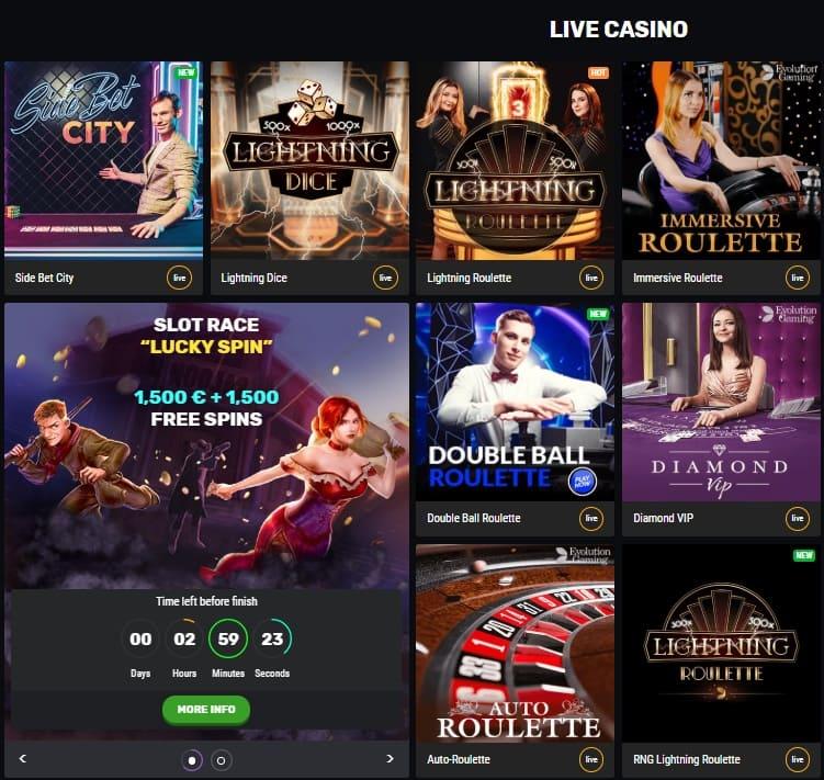 live casino bet amo