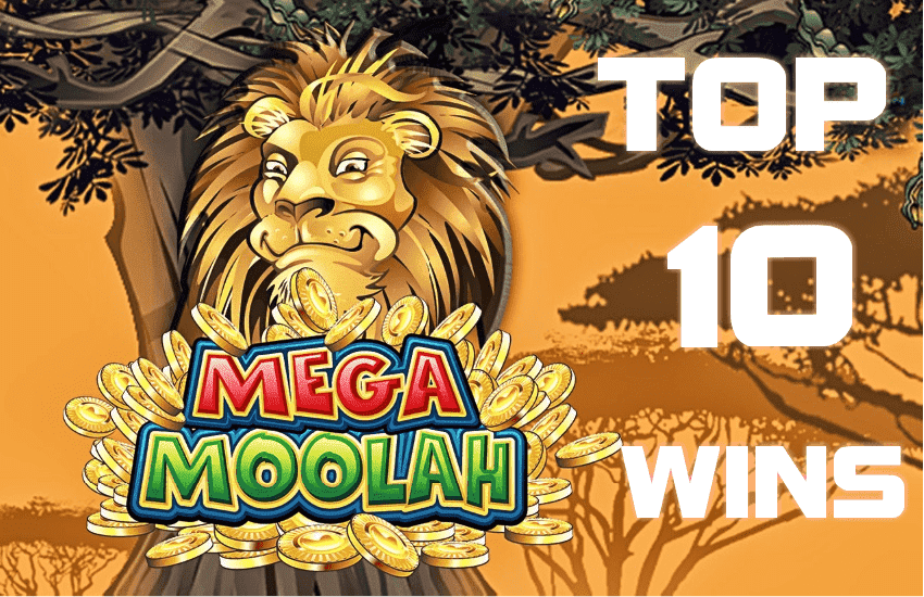Top 10 biggest wins at the Mega Moolah jackpot slot