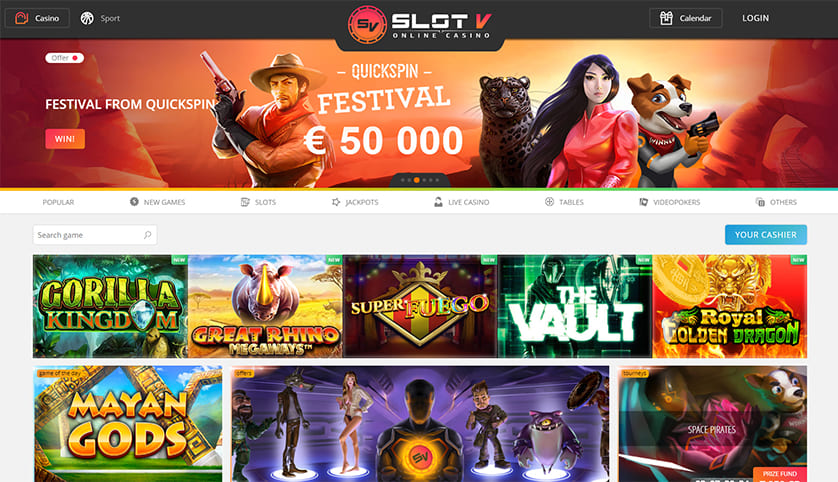 SlotV Casino Features