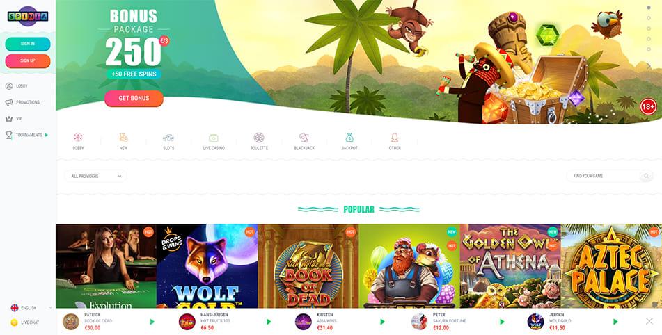 Online Casino Spinia