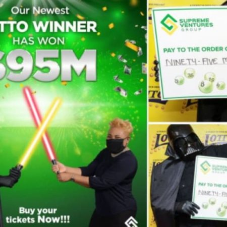 Lotto Jamaica: Won $ 95 million & accepted as Darth Vader